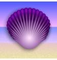 Purple shell on the summer sea beach vector