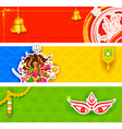 Happy navratri offer promotions vector