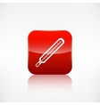 Medical thermometer web icon application button vector