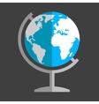 Earth globe flat icon vector