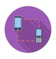 Phone sync single icon vector