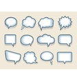 Set of speech or thought bubbles vector