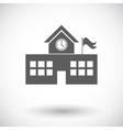 School building vector