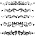 Floral borders and ornaments vector