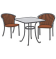 Table and armchairs vector