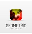 Abstract geometric shape company logo vector