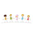 Multi racial kids vector