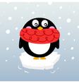 Winter penguin vector