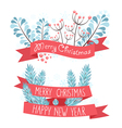 Elegant christmas greeting banners vector