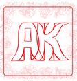 Ak monogram vector