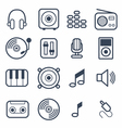 Music icons with white background vector