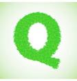 Grass letter q vector