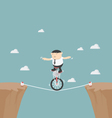 Overcome obstacles in life vector