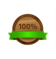 100 green wooden badge vector