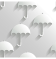 Abstract seamless background with umbrellas vector