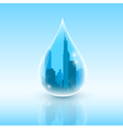 Drop of city vector