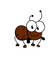 Adorable little brown cartoon ant vector