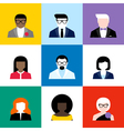 Modern flat avatars set male and female user icons vector