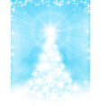 Light blue christmas tree background vector