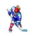 Close-up of man playing ice hockey vector