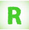 Grass letter r vector