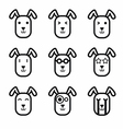 Rabbit face icon vector