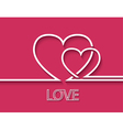 Two heart for greeting card design vector