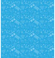 Baby shower boy pattern set vector