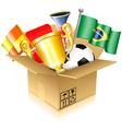 Soccer items vector