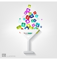 Wine glass web icon vector