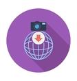 Photo download single icon vector