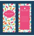 Colorful branches vertical frame pattern vector