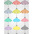 12 detailed umbrellas vector
