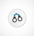 Handcuffs icon 2 colored vector