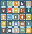 Bathroom flat icons on blue background vector