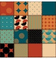 Quilting design in retro style vector