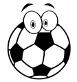 Outlined cartoon soccer ball vector