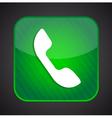 Phone icon - green app button vector