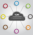 Cloud business infographics vector