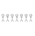 Set of the simple persons with different emotions vector