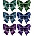 Festive black polka dot bows vector