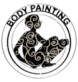 Body painting stamp vector