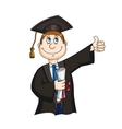 Student with diploma vector