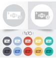 Tips sign icon cash money symbol coin vector