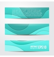 Set of abstract blue banners three background vector