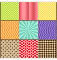 Set of nine simple geometric patterns vector