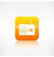 Radio web icon application button vector