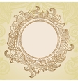 Abstract hand drawn frame with copy-space vector