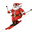 Skiing santa isolated vector