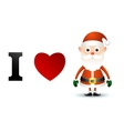 I love santa claus card vector